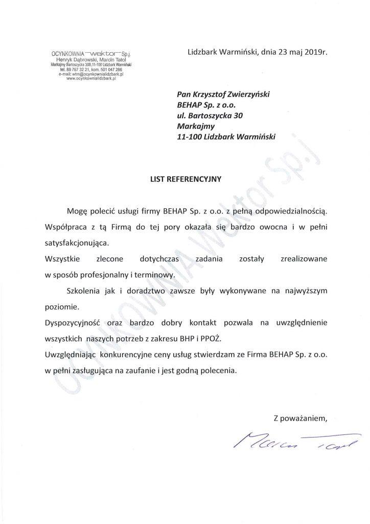 Referencje od firmy LIROPOL s.c.