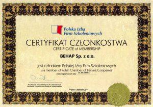 Certyfikat PIFS umożliwiający skuteczne doradztwo w zakresie BHP i PPOŻ